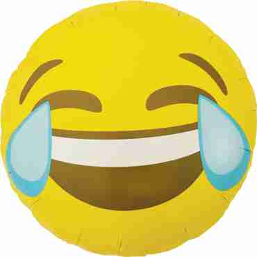 Emoji Crying Laughing Foil Round 18in/45cm