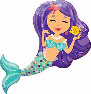 Enchanting Mermaid Foil Shape 38in/97cm