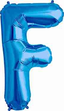 F Blue Foil Letter 34in/86cm