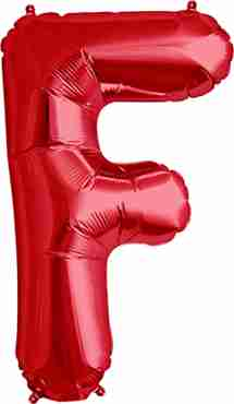 F Red Foil Letter 34in/86cm