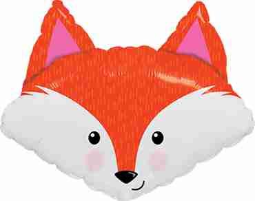 Fabulous Fox Foil Shape 14in/35cm