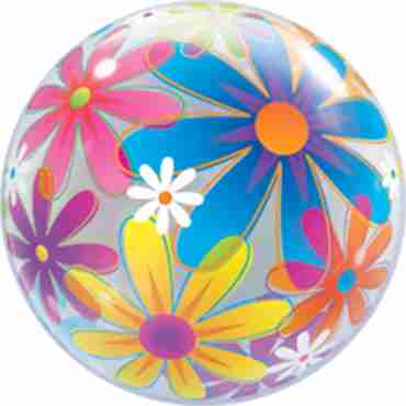 Fanciful Flowers Single Bubble 22in/55cm