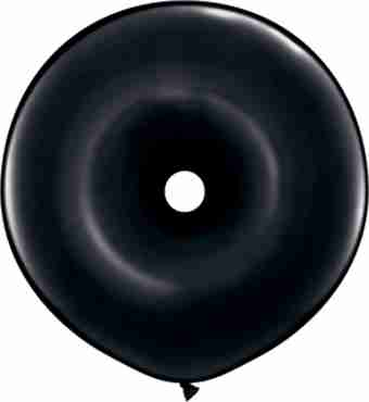 Fashion Onyx Black GEO Donut 16in/40cm