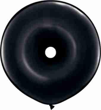 fashion onyx black geo donut 16in/40cm