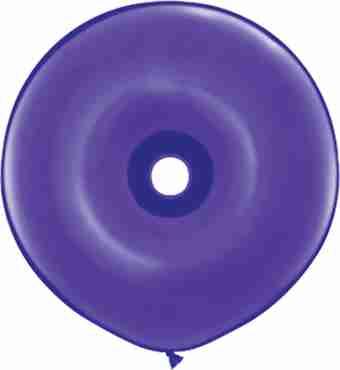 fashion purple violet geo donut 16in/40cm