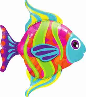 Fashionable Fish Foil Shape 43in/107.5cm