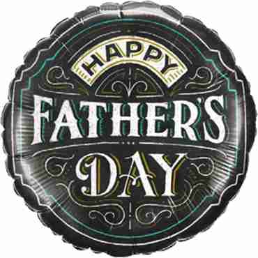 Father's Day Chalkboard Foil Round 18in/45cm