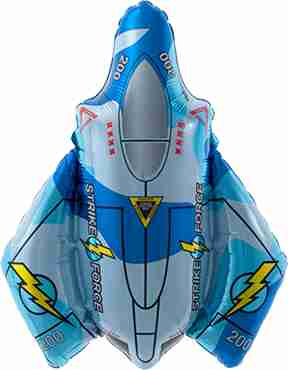 Fighter Jet Foil Shape 14in/36cm