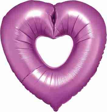 Flamingo Open Heart Foil Shape 26in/66cm