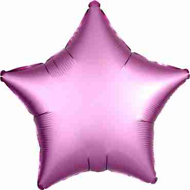 Flamingo Satin Luxe Foil Star 17in/43cm