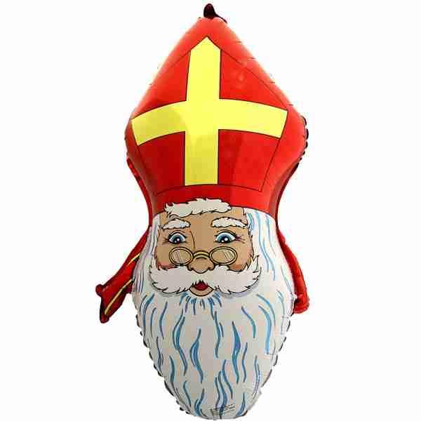 Folieballon Sinterklaas Hoofd 75cm