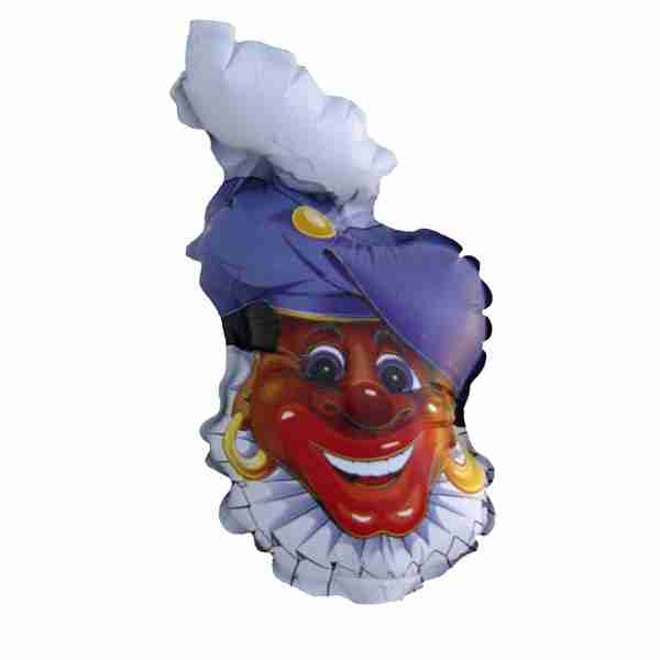 Folieballon Zwarte Piet Hoofd 84cm
