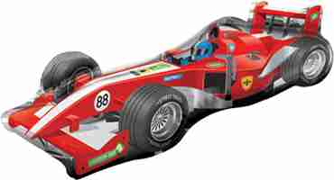Formula One Car Vendor Foil Shape 24in/60cm x 18in/45cm