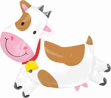 friendly cow vendor foil shape 30in/76cm x 28in/71cm
