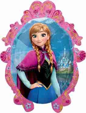 Frozen - Anna/Elsa Vendor Foil Shape 20in/51cm x 27in/69cm