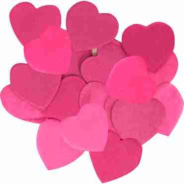 Fuchsia Paper Heart Confetti (Flame Retardant) 30mm 100g