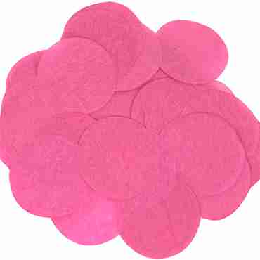 Fuchsia Paper Round Confetti (Flame Retardant) 15mm 14g