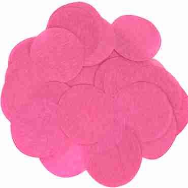 Fuchsia Paper Round Confetti (Flame Retardant) 25mm 14g