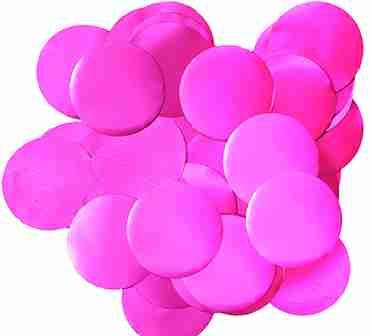 Fuchsia Pearl Metallic Round Foil Confetti 25mm 14g