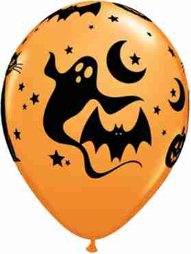 Fun and Spooky Items Standard Orange Latex Round 11in/27.5cm