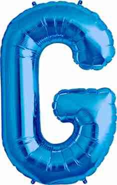 G Blue Foil Letter 34in/86cm