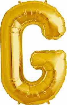 G Gold Foil Letter 34in/86cm