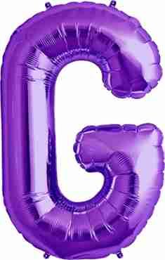 G Purple Foil Letter 34in/86cm