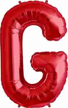 G Red Foil Letter 34in/86cm