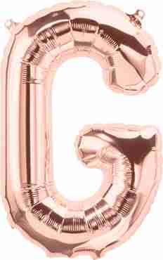 G Rose Gold Foil Letter 16in/40cm