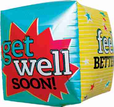 Get Well Feel Better Cube 17in/43cm