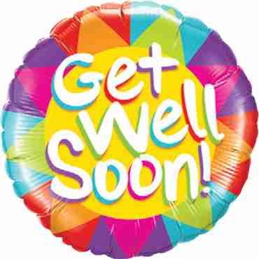 Get Well Soon Sunshine Foil Round 18in/45cm