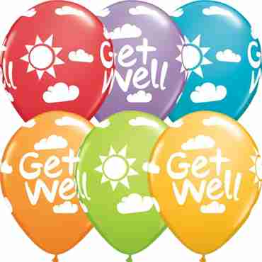 Get Well Sunshine Festive Assortment Latex Round 11in/27.5cm