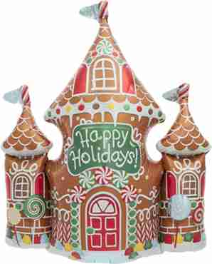 gingerbread house foil shape 33in/84cm