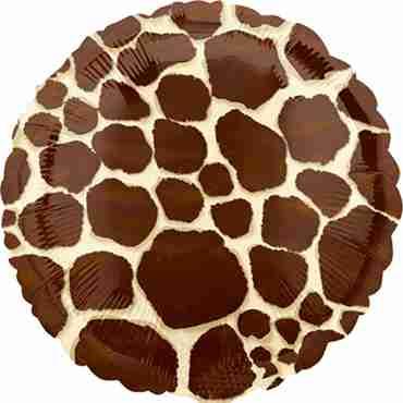 Giraffe Foil Round 18in/45cm