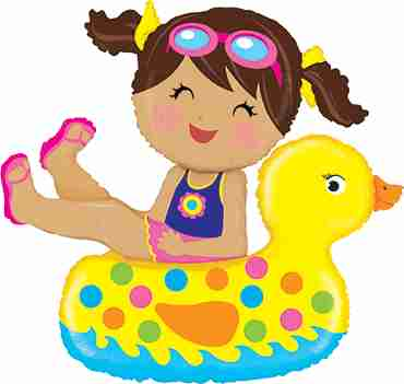 Girl Floatie Foil Shape 42in/107cm