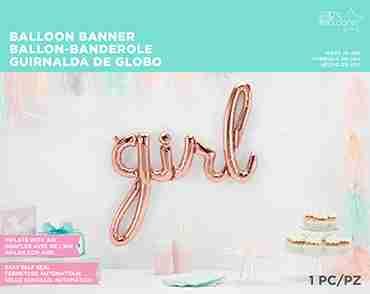 Girl Script Rose Gold 45in/114cm