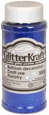 Glitter Kraft Blue Glitter Pot 100g