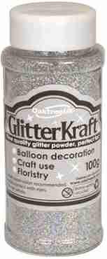 Glitter Kraft Holographic Silver Glitter Pot 100g