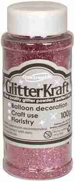 Glitter Kraft Light Pink Glitter Pot 100g