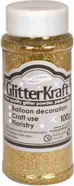 Glitter Kraft Metallic Gold Glitter Pot 100g