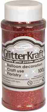 Glitter Kraft Red Glitter Pot 100g
