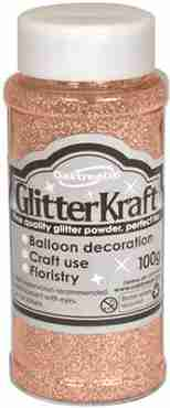 Glitter Kraft Rose Gold Glitter Pot 100g