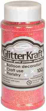 Glitter Kraft Sugar Pink Glitter Pot 100g