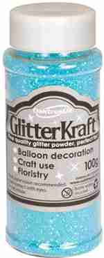 Glitter Kraft Topaz Blue Glitter Pot 100g