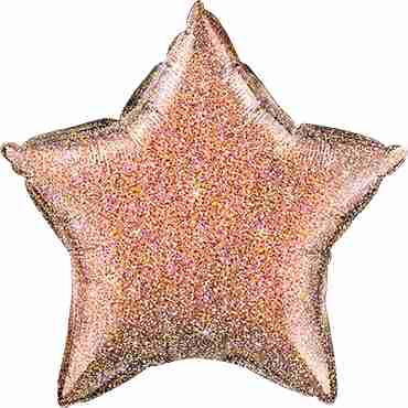 Glittergraphic Rose Gold Foil Star 20in/50cm