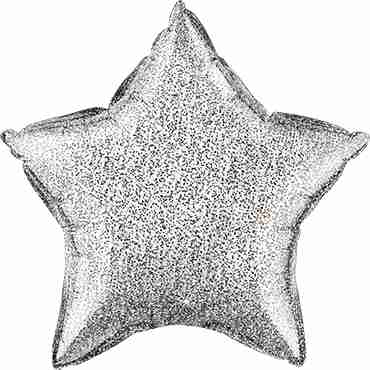 Glittergraphic Silver Foil Star 20in/50cm