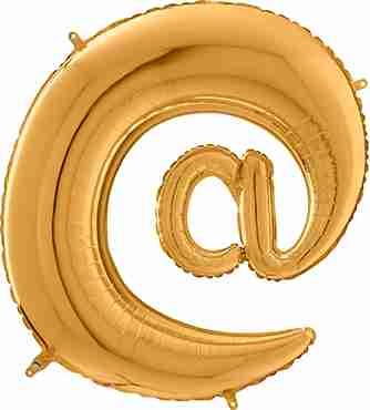 Gold @ Foil Letter 26in/66cm
