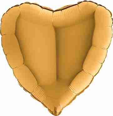 Gold Foil Heart 18in/45cm