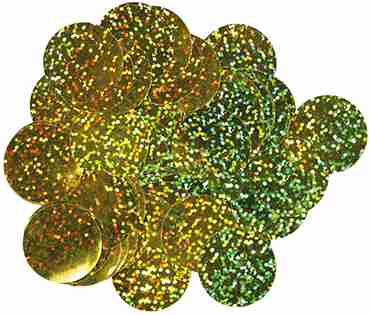 Gold Holographic Metallic Round Foil Confetti 10mm 50g