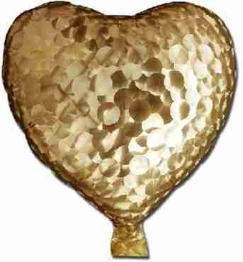 Gold Jewelry Holographic Foil Heart 7in/17.5cm